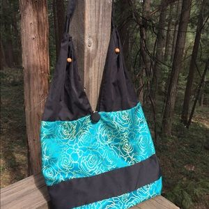 WOW Cambodia silk and cotton boho shoulder bag